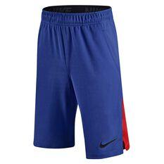 Nike Boys Hyperspeed Knit Shorts Royal Blue / Black X Small Junior, Royal Blue / Black, rebel_hi-res