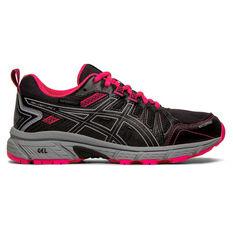 Asics GEL Venture 7 Kids Running Shoes Black / Pink US 1, Black / Pink, rebel_hi-res