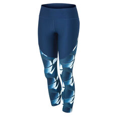 Under Armour Womens Vanish Printed Cropped Tights Blue XS, Blue, rebel_hi-res