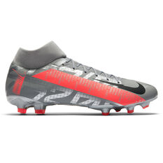 Nike Mercurial Superfly VII Academy Football Boots Silver/Red US Mens 6 / Womens 7.5, Silver/Red, rebel_hi-res
