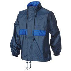 Team Kids Stowaway Jacket Navy / Blue 6 Junior, Navy / Blue, rebel_hi-res