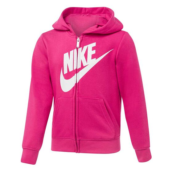 Nike Girls Volume Fleece Futura Full Zip Hoodie, , rebel_hi-res