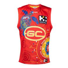 Gold Coast Suns Kids 2021 Indigenous Guernsey Red 6, Red, rebel_hi-res