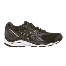 Mizuno Wave Inspire 14 Womens Running Shoes Black / Rose US 6, Black / Rose, rebel_hi-res
