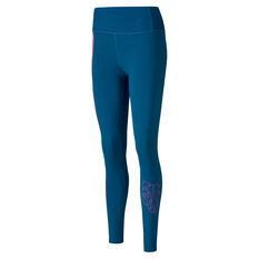 Puma Womens Be Bold High Rise 7/8 Tights Blue XS, Blue, rebel_hi-res