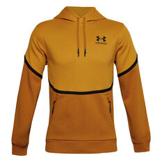 Under Armour Mens Rival Max Fleece Hoodie Yellow S, Yellow, rebel_hi-res