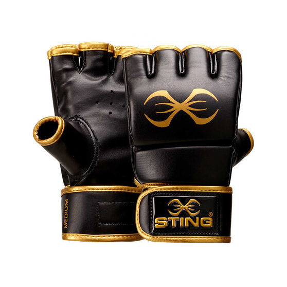 Sting MMA Training Gloves Black / Gold S, Black / Gold, rebel_hi-res
