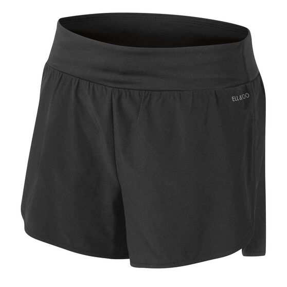 Ell & Voo Womens Ellie 2 in 1 Shorts, Black, rebel_hi-res