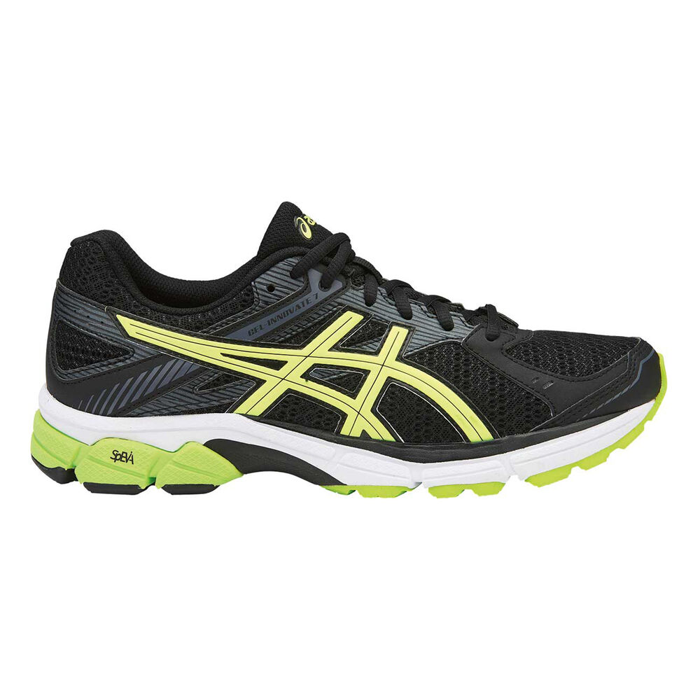 9e10c84c41f2 Asics Gel Innovate 7 Mens Running Shoes Black   Yellow US 7