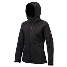 Tahwalhi Womens Panorama Soft Shell Jacket Black 8, Black, rebel_hi-res