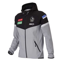 Collingwood Magpies 2020 Mens Tech Pro Hoodie Grey S, Grey, rebel_hi-res