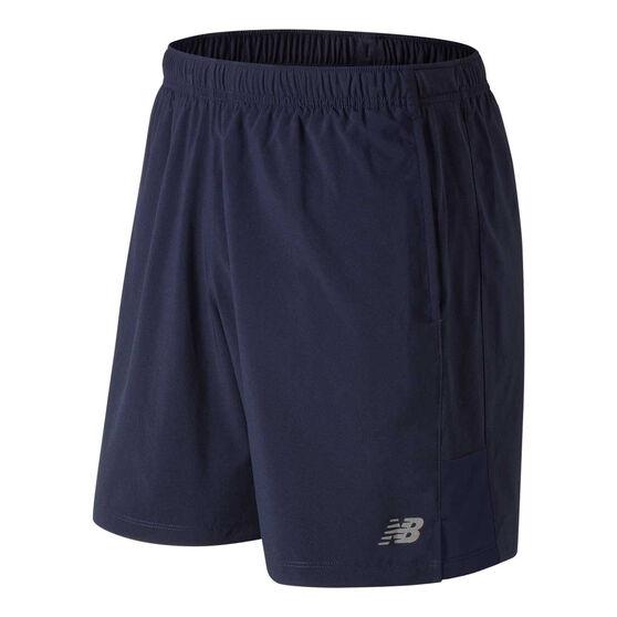 New Balance Mens Accelerate 5in Running Shorts, Blue, rebel_hi-res