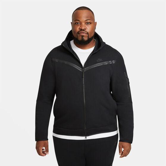 Nike Mens Sportswear Tech Fleece Full-Zip Hoodie, Black, rebel_hi-res