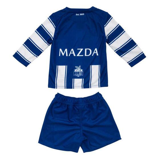 North Melbourne Kangaroos 2020 Infants Home Kit Blue/White 0, Blue/White, rebel_hi-res