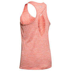Under Armour Womens Graphic Tech Twist Tank Orange XS, Orange, rebel_hi-res