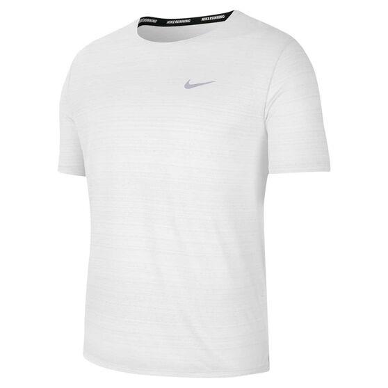 Nike Mens Dri-FIT Miler Tee, White, rebel_hi-res