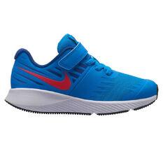 Nike Star Runner Kids Running Shoes Blue / Red US 11, Blue / Red, rebel_hi-res