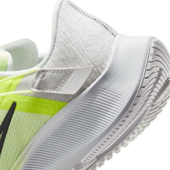 Nike Air Zoom Pegasus 38 FlyEase Womens Running Shoes, White/Green, rebel_hi-res