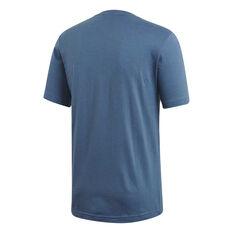 adidas Mens Essentials 3-Stripes Tee Navy XS, Navy, rebel_hi-res