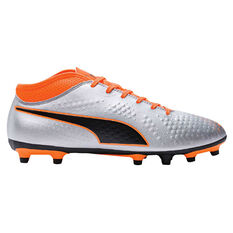 Puma One 4 Mens Football Boots Black / Orange US 7, Black / Orange, rebel_hi-res