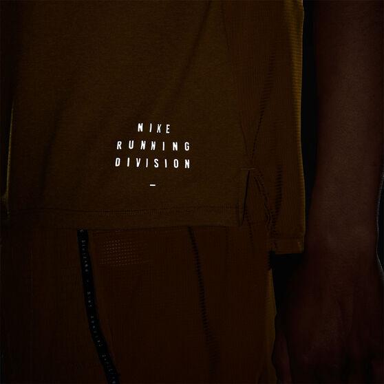 Nike Mens Ultra Run Division TechKnit Tee, Yellow, rebel_hi-res
