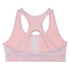 Nike Girls Swoosh Reversible Sports Bra Pink M, Pink, rebel_hi-res