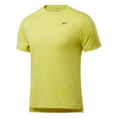 Reebok Mens United By Fitness Perforated Tee Yellow S, Yellow, rebel_hi-res