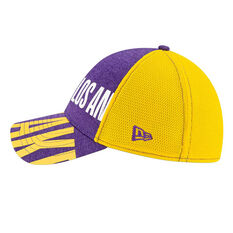 Los Angeles Lakers New Era 39THIRTY Tip Off Cap Purple S/M, Purple, rebel_hi-res