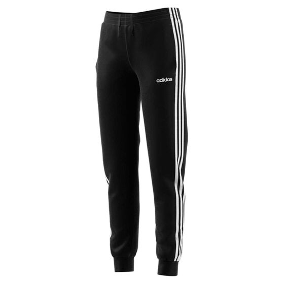 adidas Girls Essentials 3 Stripes Pants Black / White 6, Black / White, rebel_hi-res