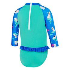 Speedo Toddler Flounce Swimsuit Blue / Print 3, Blue / Print, rebel_hi-res