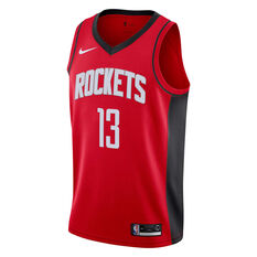 Nike Houston Rockets James Harden 2019 Mens Icon Edition Swingman Jersey Red S, Red, rebel_hi-res