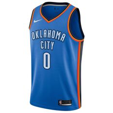 Nike Oklahoma City Thunder Russell Westbrook 2019 Mens Swingman Jersey Signal Blue S, Signal Blue, rebel_hi-res