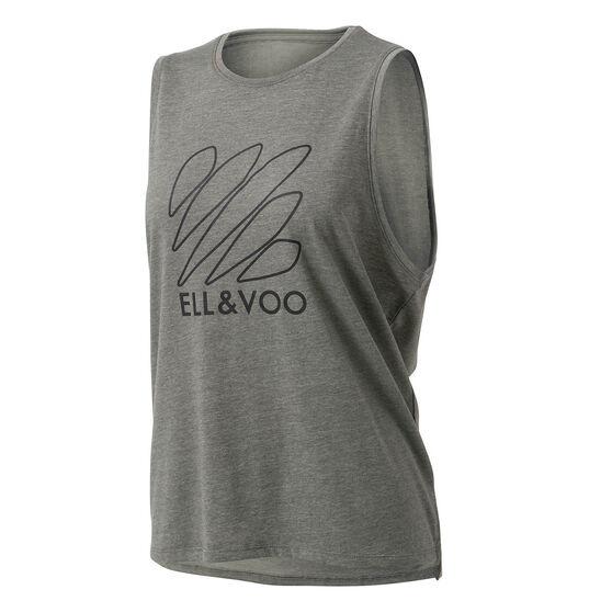 Ell & Voo Womens Taylor Logo Muscle Tank, Thyme, rebel_hi-res