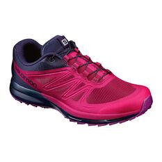 Salomon Sense Pro 2 Womens Trail Running Shoes Pink / Black US 6, Pink / Black, rebel_hi-res