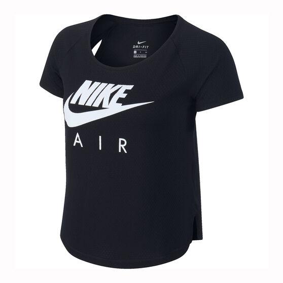 Nike Womens Air Mesh Running Tee, Black, rebel_hi-res