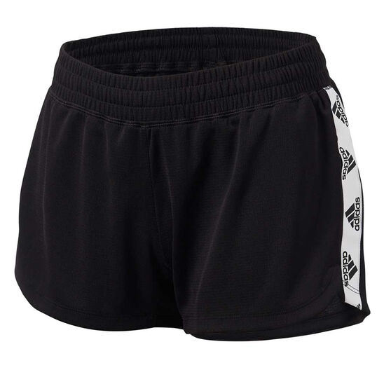 adidas Womens Key Item Knit Training Shorts, Black, rebel_hi-res