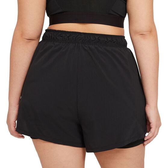 Nike Womens Flex Essential 2 in 1 Training Shorts, Black, rebel_hi-res