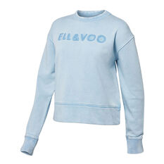 Ell & Voo Womens Noah Cropped Crew Sweatshirt Blue XXS, Blue, rebel_hi-res