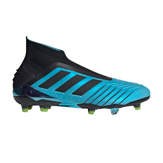 adidas Predator 19+ Football Boots Blue / Black US Mens 9.5 / Womens 10.5, Blue / Black, rebel_hi-res