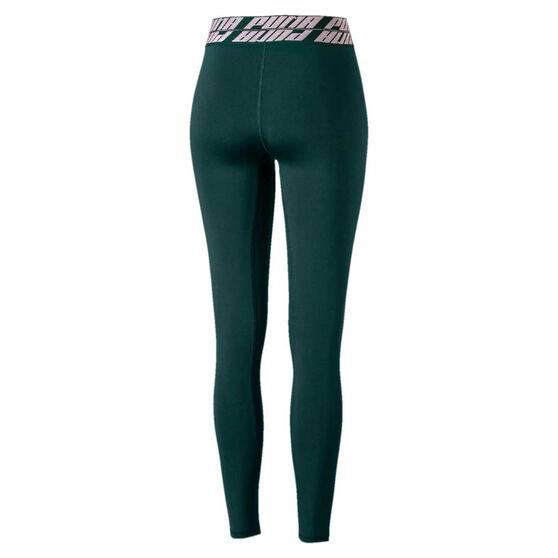 Puma Womens Own It Full Length Tights, Green / Blue, rebel_hi-res