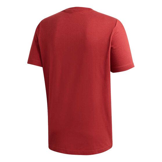adidas Mens Must Haves Badge of Sport Tee, Red, rebel_hi-res