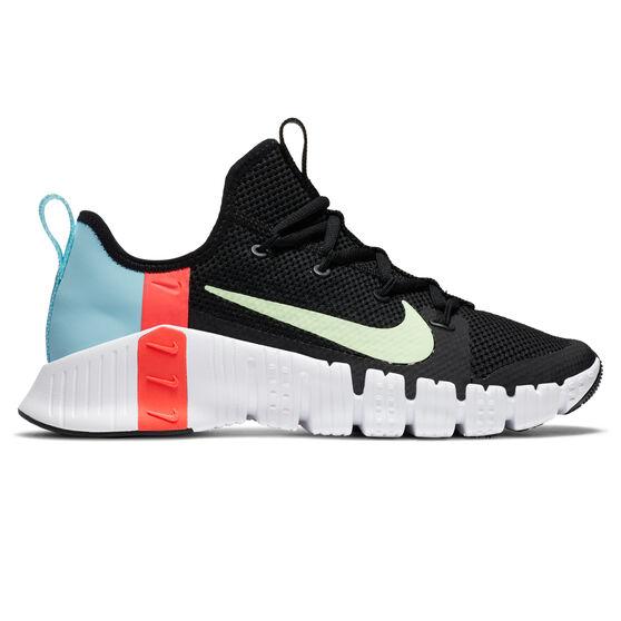 Nike Free Metcon 3 Womens Training Shoes, Black/Volt, rebel_hi-res