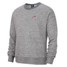 Nike Mens Sportswear Heritage Sweatshirt Grey XS, Grey, rebel_hi-res