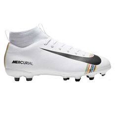 Nike Mercurial Superfly VI Academy Kids Football Boots White / Black US 1, White / Black, rebel_hi-res