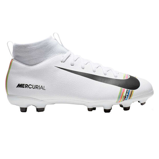 Nike Mercurial Superfly VI Academy Kids Football Boots, White / Black, rebel_hi-res