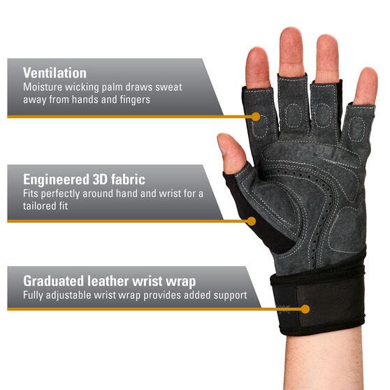 Harbinger Bioflex Elite Wristwrap Glove, Grey, rebel_hi-res