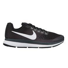 Nike Zoom Pegasus 34 Kids Running Shoes Black / White US 1, Black / White, rebel_hi-res