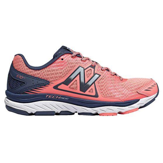 New Balance 670v5 Womens Running Shoes, Coral / Black, rebel_hi-res