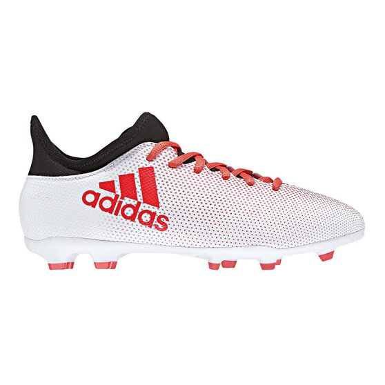 adidas X 17.3 FG Junior Football Boots Grey / Red US 5, Grey / Red, rebel_hi-res
