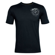 Under Armour Mens Project Rock Iron Paradise Tee Black XS, Black, rebel_hi-res